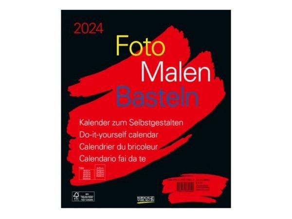 Bastelkalender Korsch Foto, Malen, Basteln schwarz 30x35cm