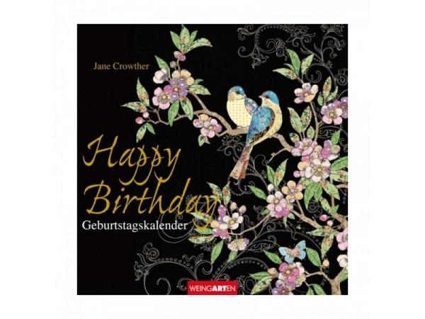 Geburtstagskalender Weingarten Happy Birthday von Jane Crowther 20x2..