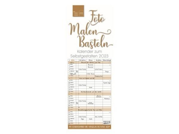 Bastelkalender Korsch Familienplaner 4-spaltig 19x52cm