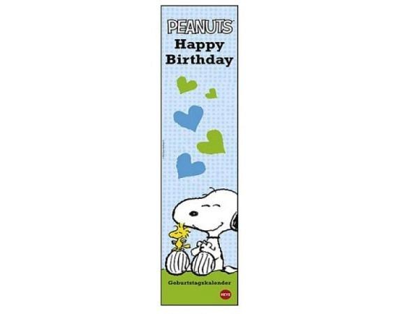 Geburtstagskalender Heye Snoopy, 11x49cm