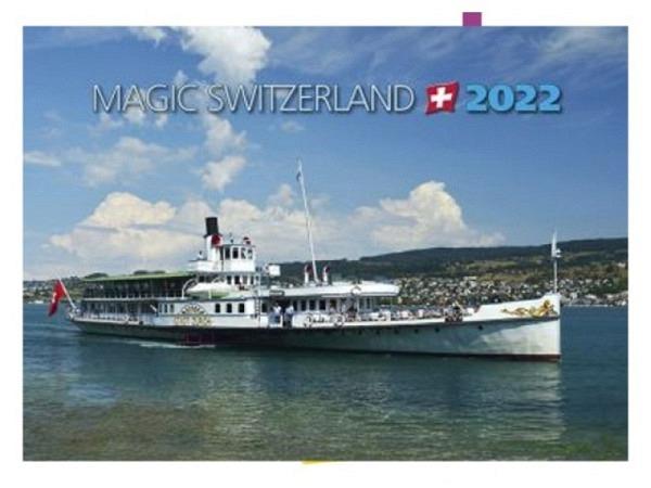 Kalender Magic Switzerland, 23x16,5cm, aufklappbar