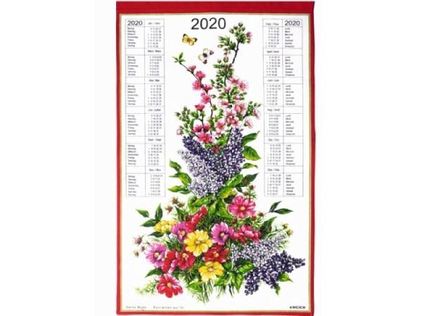 Stoffkalender Blumenstrauss 43x68cm