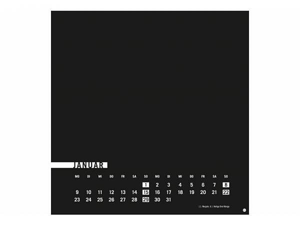 Bastelkalender Heye schwarz 32x33cm