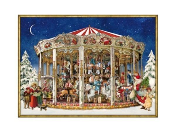 Adventskalender Coppenrath Weihnachtskarrussel 52x38cm