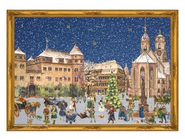 Adventskalender Sellmer Nr.311 verschneiter Tag auf dem Weihnachtsma..