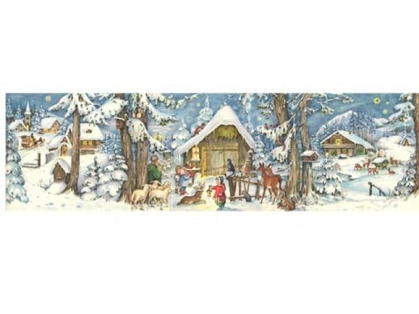 Adventskalender Sellmer 69,7x21,7cm, Heiligen Abend