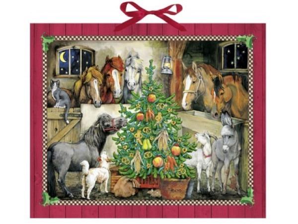 Adventskalender Coppenrath Pferde-Weihnacht im Stall 57x47cm