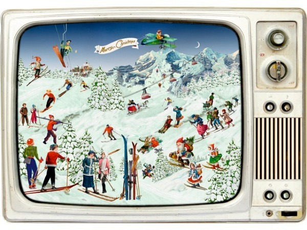 Adventskalender Coppenrath Advents-Retro TV 42x29,7cm