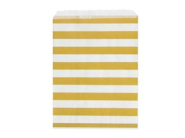 Adventskalender Artebene Flachbeutel Stripes weiss-gold 13x18cm