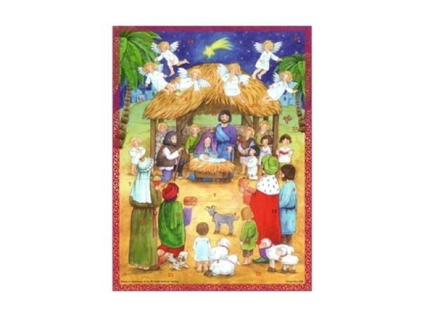 Adventskarte Sellmer Nr.493 Jesuskind in der Krippe