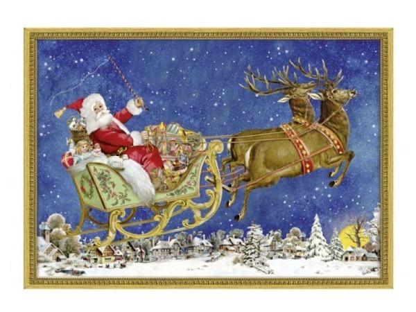 Adventskalender Coppenrath Nostalgischer Weihnachtsschlitten A4