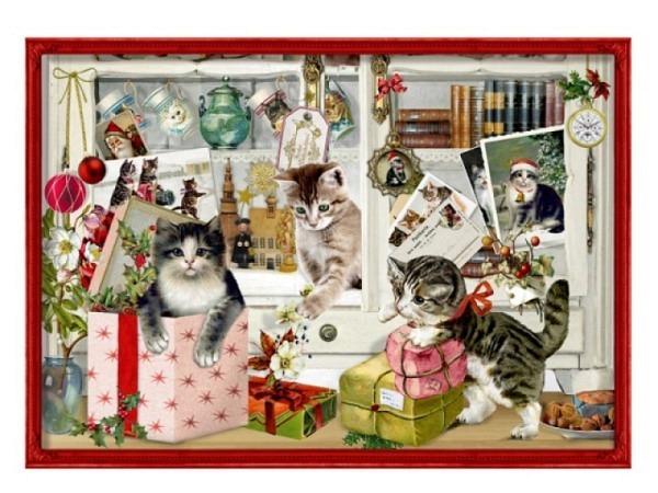 Adventskalender Coppenrath Katzen Weihnachten A4