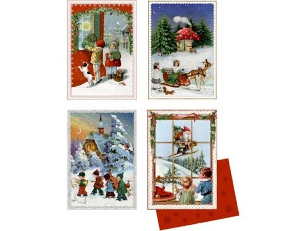Adventskalender Coppenrath Mini Nostalgische Adventspost 16,5x11,5cm