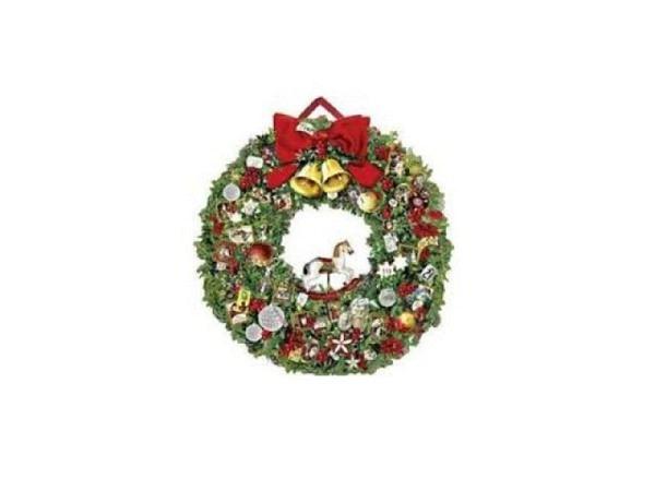 Adventskalender Coppenrath Festlicher Weihnachtskranz 51cm