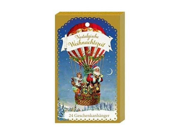 Geschenkanhänger Coppenrath für Adventskalender, Nostalgische Weihnachtszeit