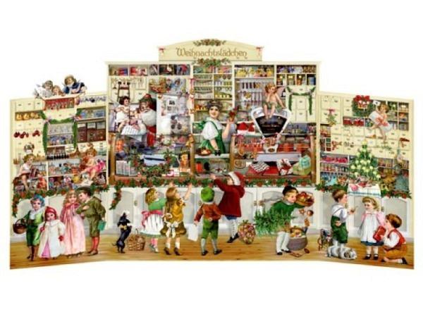 Adventskalender Coppenrath Weihnachtslädchen 68x39cm