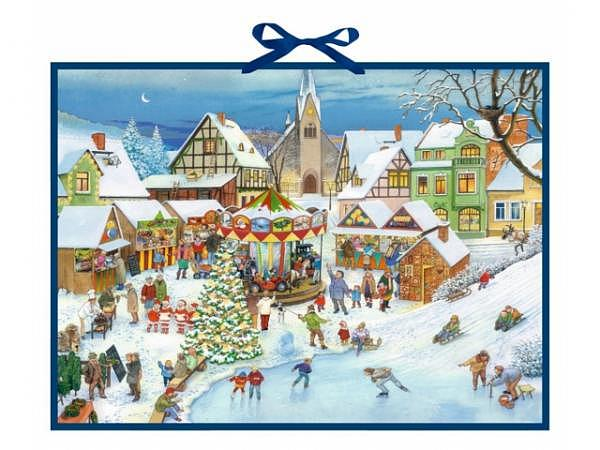 Adventskalender Coppenrath Weihnachtsmarkt im Dorf