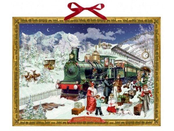 Adventskalender Coppenrath Nostalgische Eisenbahn 52x38cm