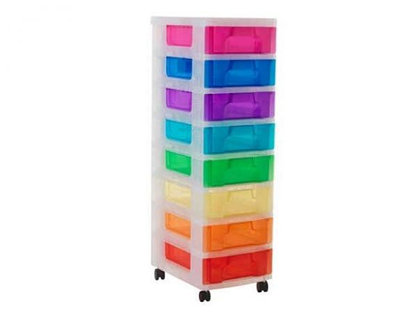Büroset Really Useful Rainbow auf Rollen mit 8 Schubladen
