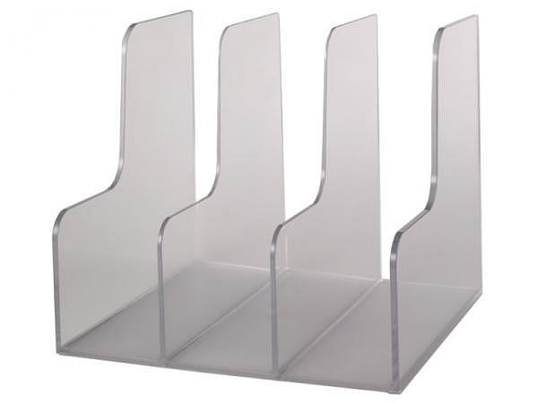 Kataloggestell Palaset transparent mit drei Fächer je 7,5cm