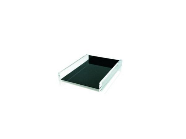 Briefkorb Wedo Akryl schwarz-transparente Briefablage