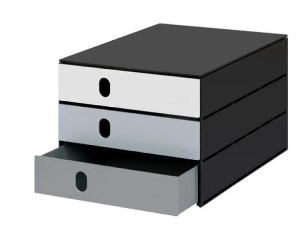 Büroset Lego Storage Drawer Brick 4 schwarz 25x25x18cm