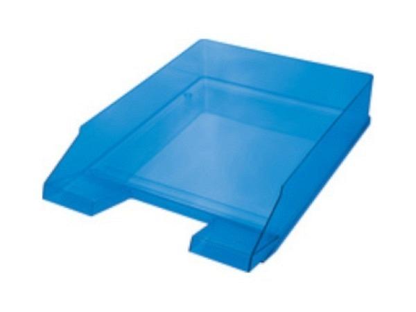 Briefkorb Helit Economy A4 blau transparent, hochglänzend