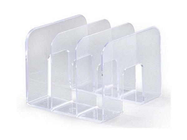 Kataloggestell Durable glasklar mit drei Fächern