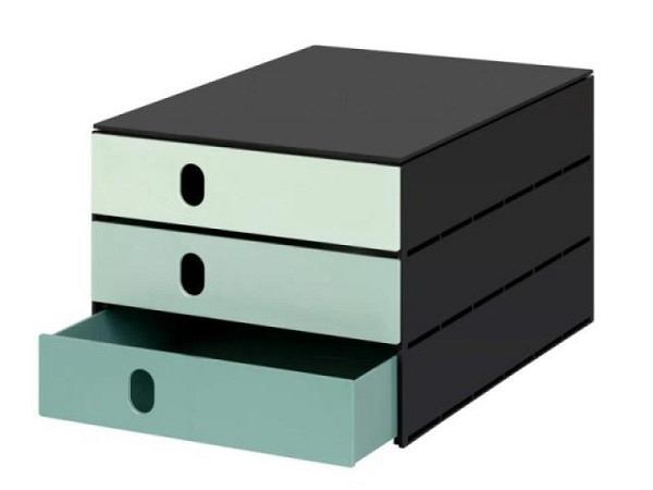 Büroset Lego Storage Drawer Brick 4 steingrau