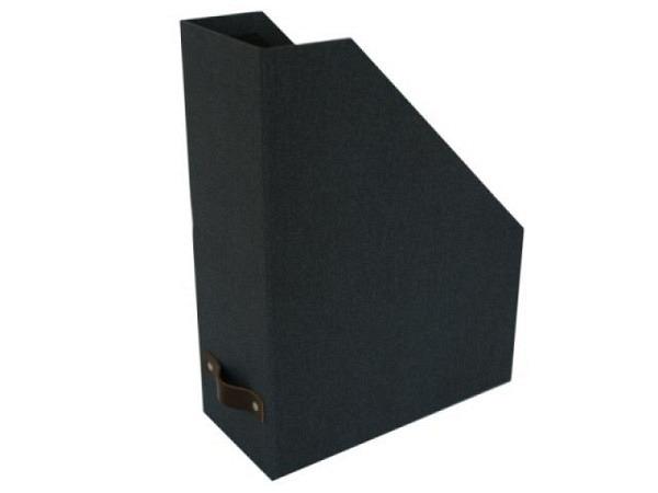 Zeitschriftenbox Bigso Box Leinenbezug Estelle dunkelblau A4