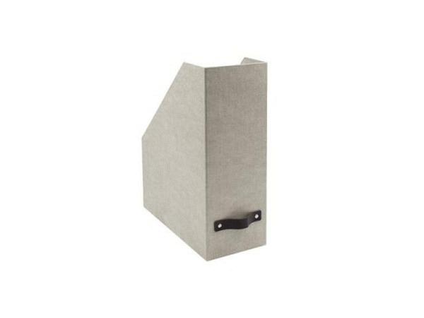 Zeitschriftenbox Bigso Box Leinenbezug Estelle Anthrazit A4