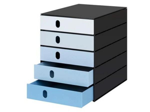 Büroset Lego Storage Drawer Brick 8 schwarz 50x25x18cm