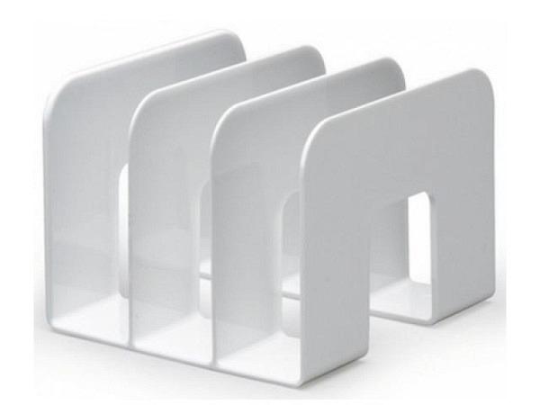 Kataloggestell Durable weiss mit drei Fächern