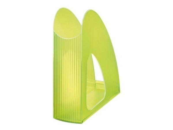 Zeitschriftenbox Han Twin A4 transparent grün