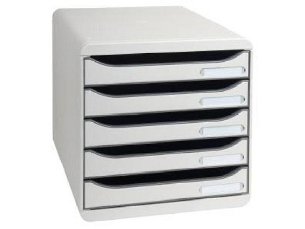 Büroset Exacompta BigBox Plus grau mit 4 Schubladen  A4+