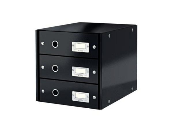 Büroset Leitz Click&Store mit 3 Schubladen schwarz
