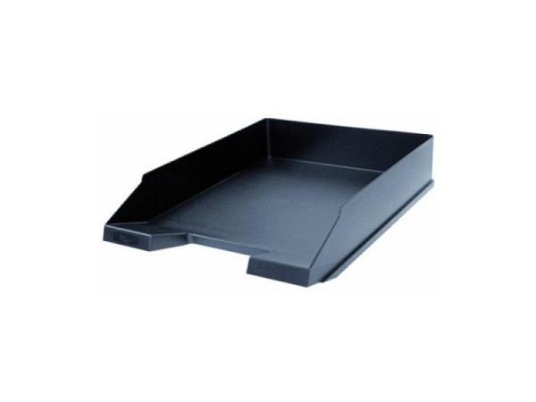 Briefkorb Büroline schwarz A4 aus Kunststoff