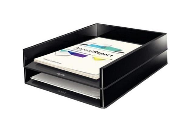 Briefkorb Leitz Duo Color A4 schwarz-anthrazit