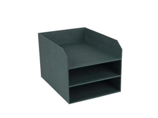 Briefkorb Bigso Box Papierbezug Henry altrosa, A4 quer