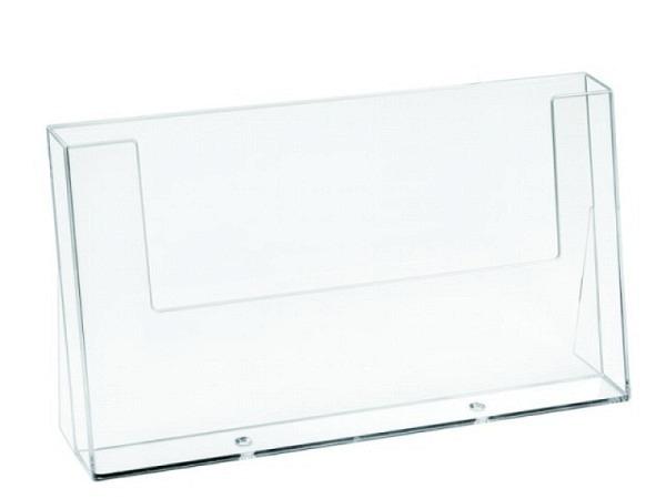 Prospektsteller Acryl transparent A5 Querformat