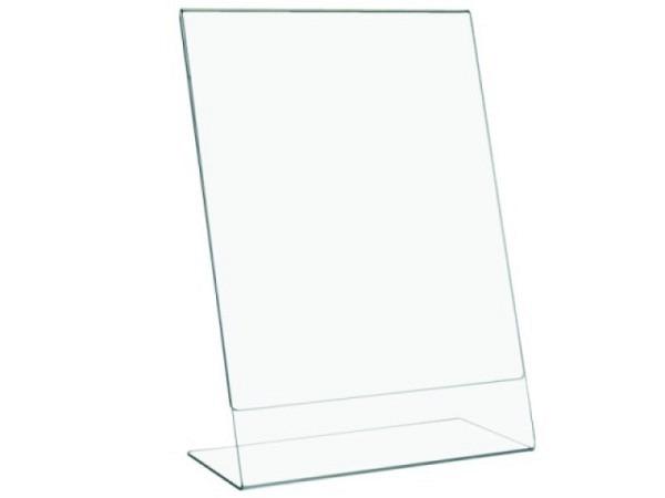 Schilderhalter Acryl transparent A4 210x297mm Hochformat