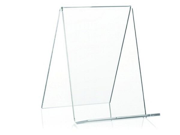 Ständer Bücherstütze Acryl transparent Höhe 15cm Breite 10cm