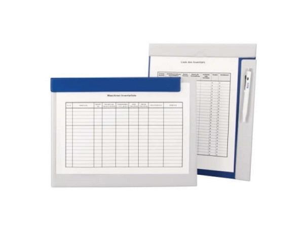 Klemmplatte Biella Attraction blau-grau Magnet-Schreibplatte