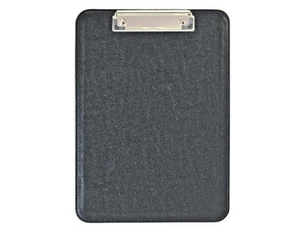 Klemmplatte Ecobra A5 schwarz aus Kunstleder 23x15,7cm