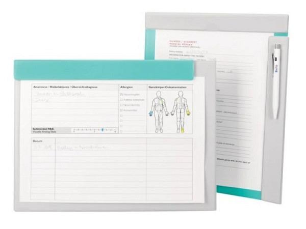 Klemmplatte Büroline A4 gelb transp., Materialdicke 1,6 mm