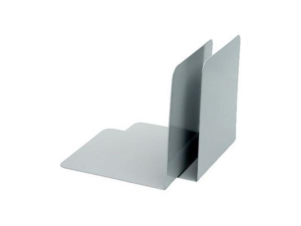 Buchstütze Alco Metall 13x14x14cm BxHxT grau 1Paar