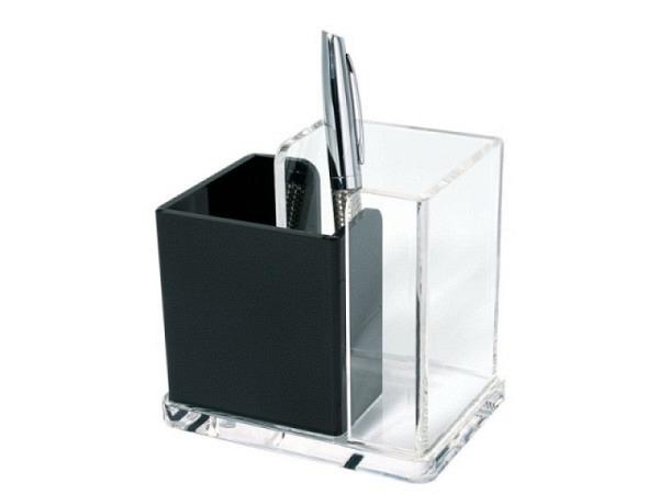 Bürobutler Wedo aus glasklarem Acryl