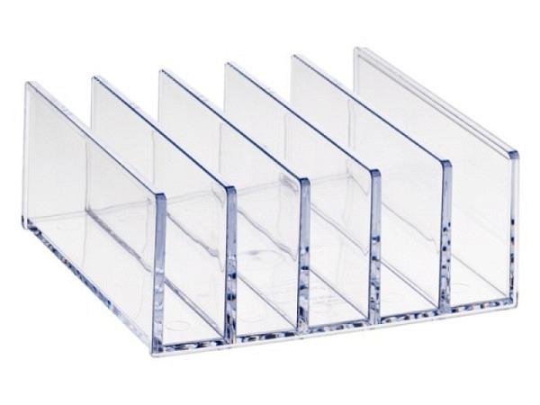Briefständer Palaset transparent mit 5 Fächern je 2cm