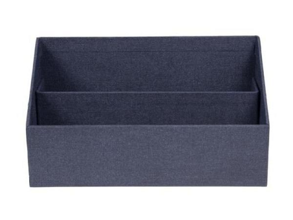 Briefständer Bigso Box Leinenbezug George dunkelblau