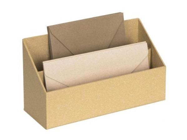 Briefständer Bigso Box Papierbezug George grau